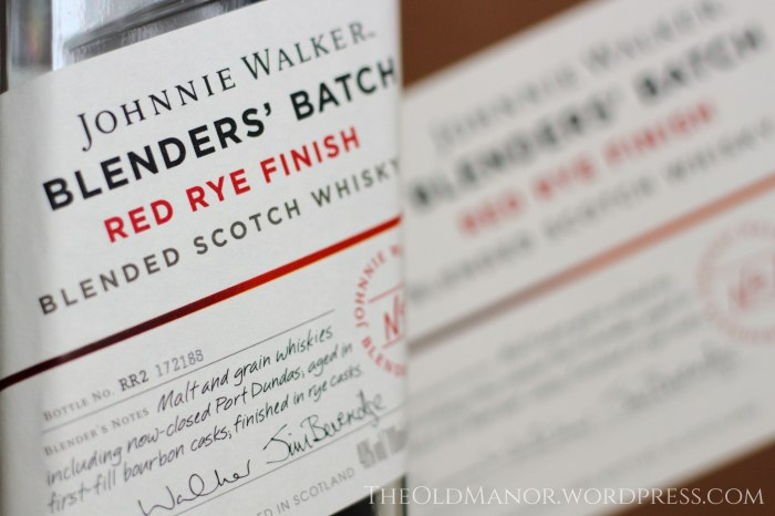Johnnie Walker Blenders' Batch Red Rye Finish blended scotch whisky Review